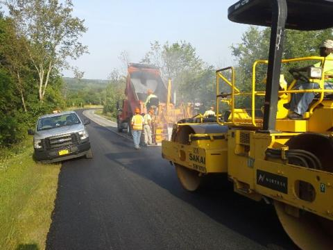Paving Crew working on road